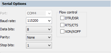 RPI RS232 to Computer RS232 Setting