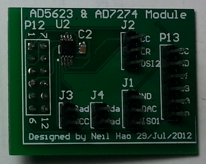 AD5623andAD7274Module
